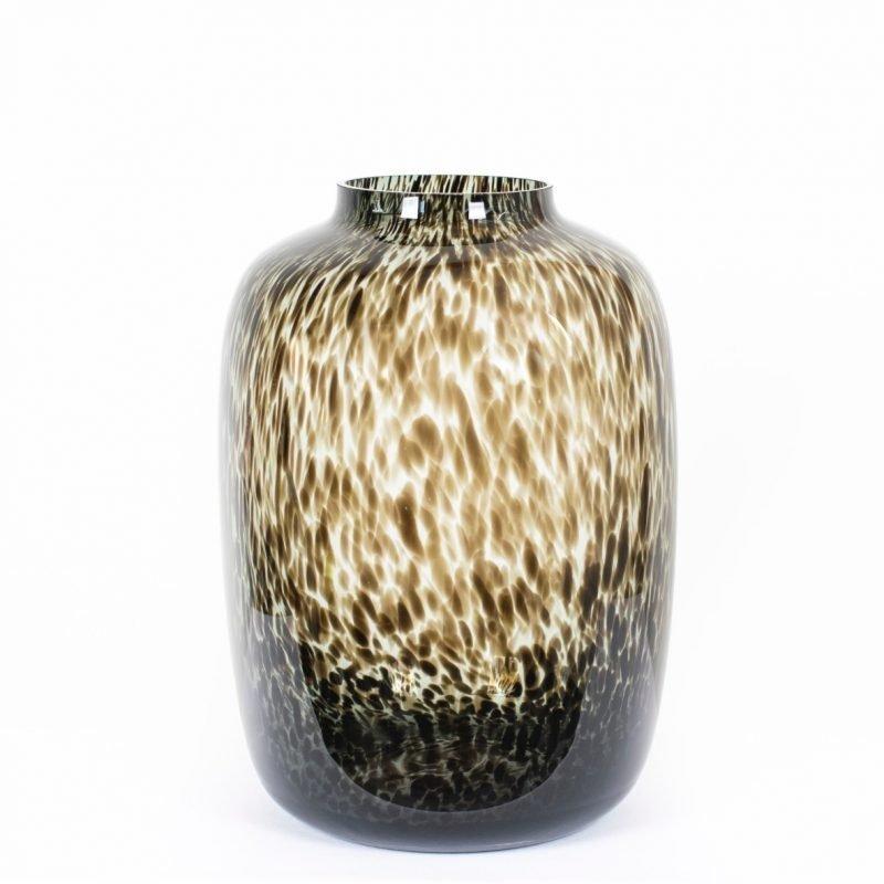 Kara cheetah vase grey