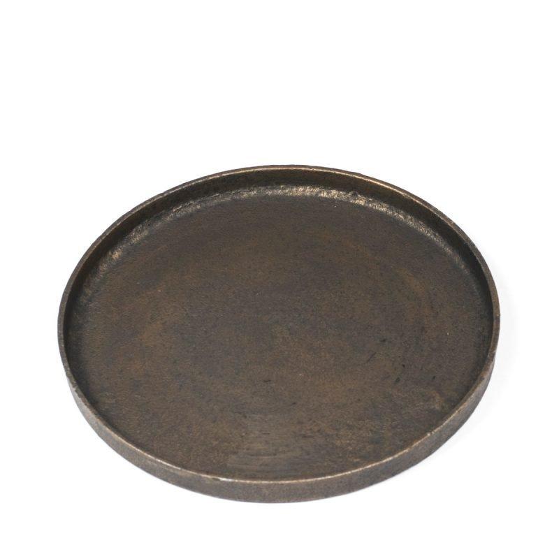 Round small tray black