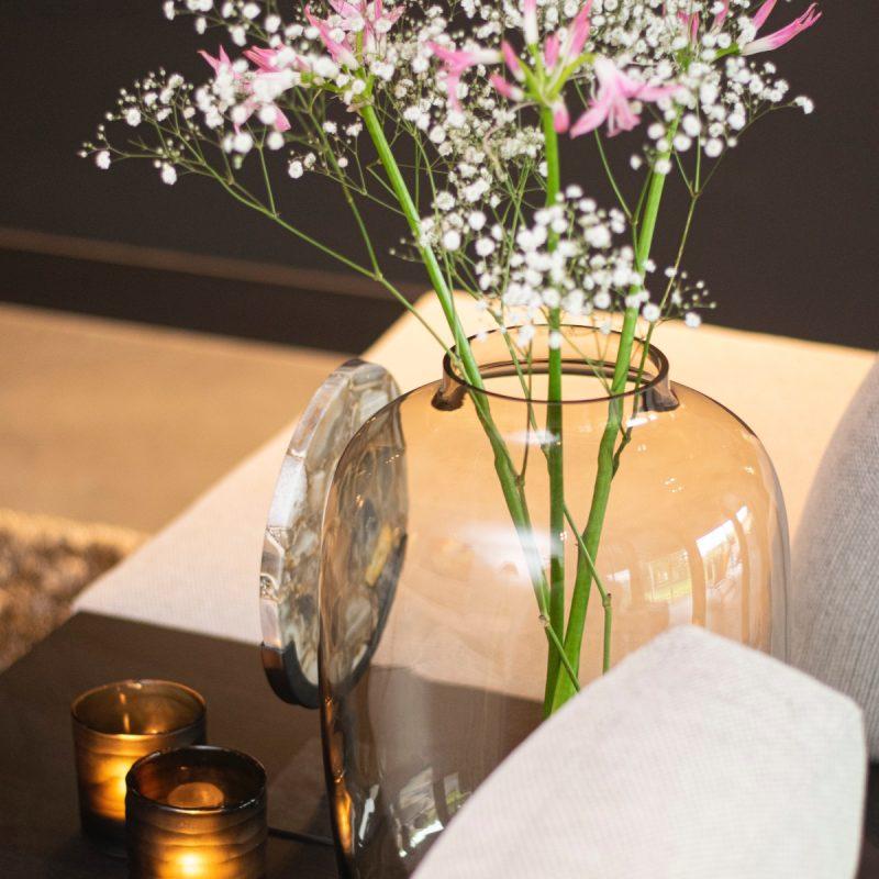 Artic topaz vase brown