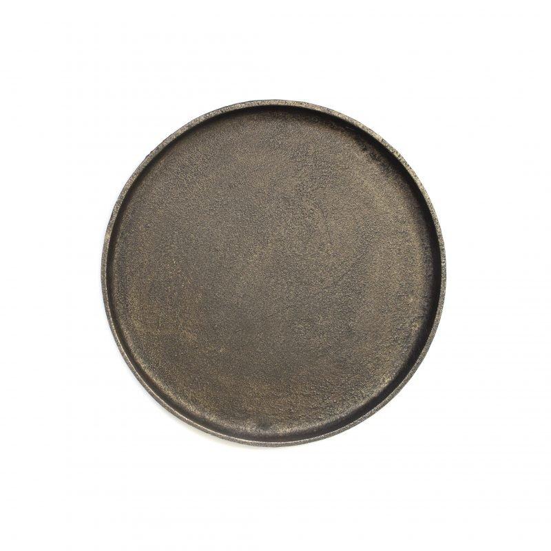 Round tray small black