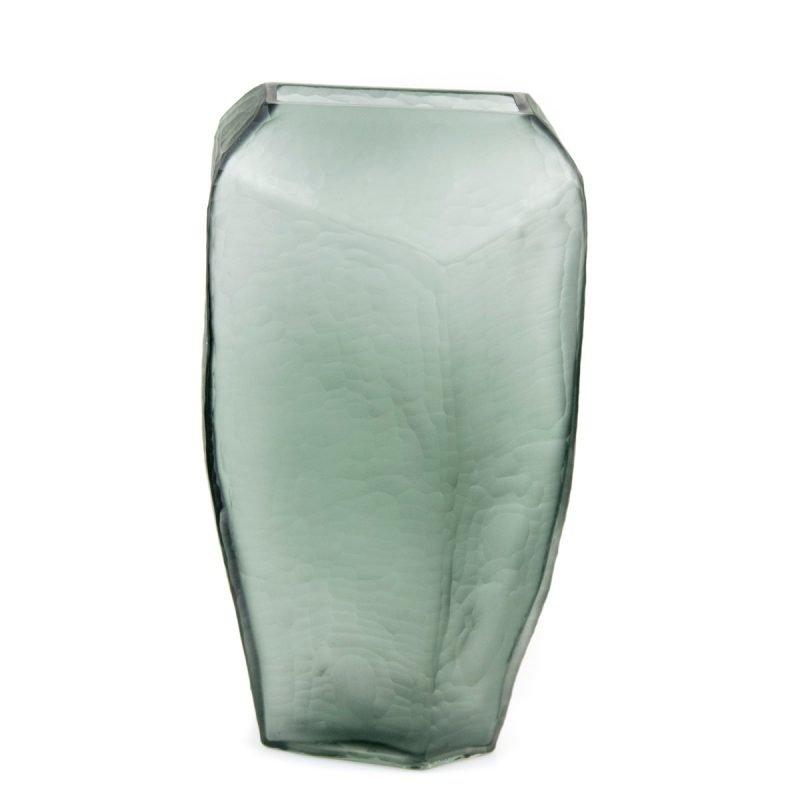 Organic craved vase grey