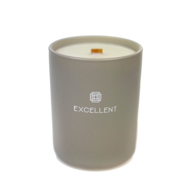 Scented candle exclusive taupe