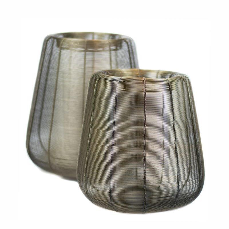 Wire lantern Adeta Gold