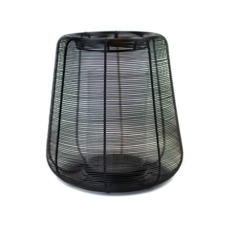 Wire lantern Adeta black