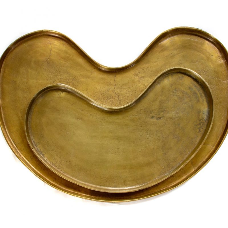 Kidney tray small gold