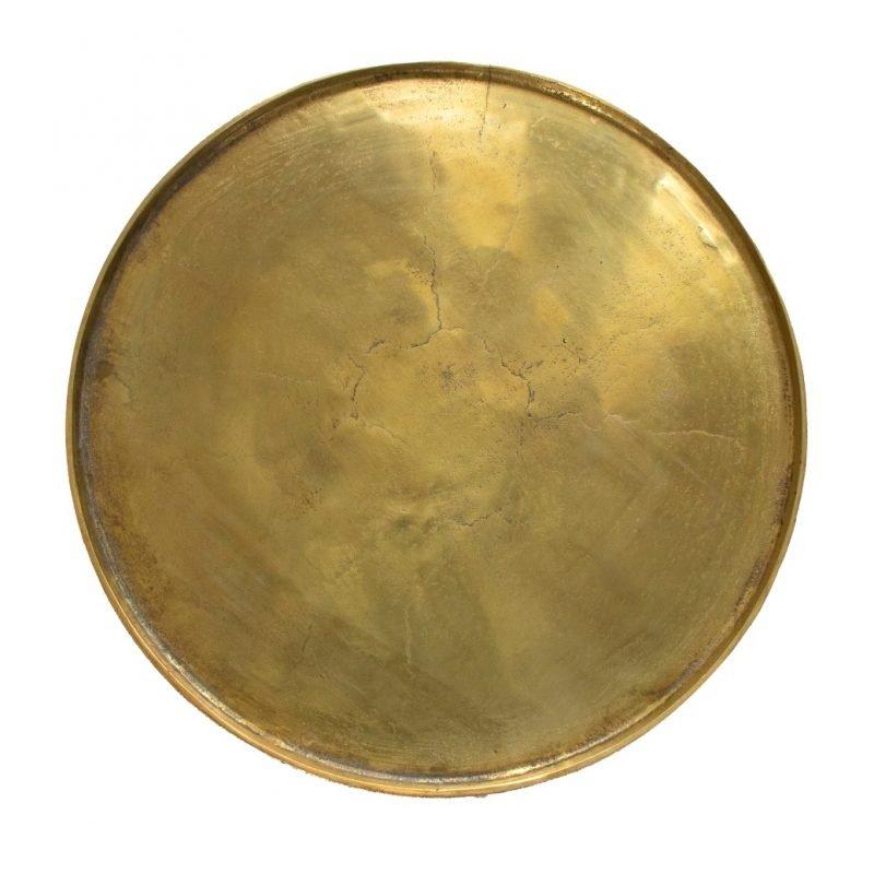 Round tray gold large