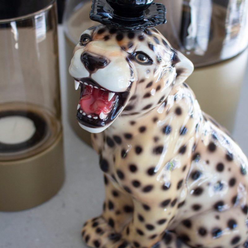 Cheetah candle holder XL