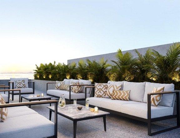 Cushion outdoor Dadra beige off-white