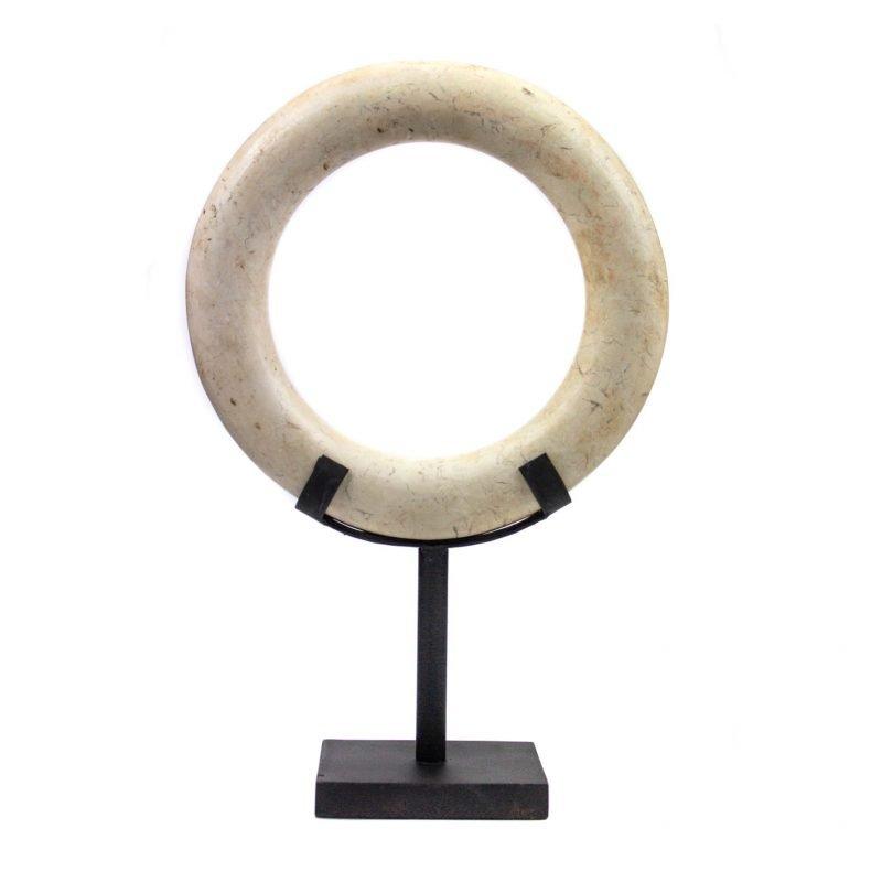 Hardstone circle white