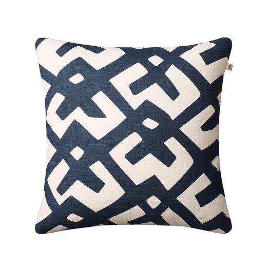 Cushion outdoor Dadra blue off-white
