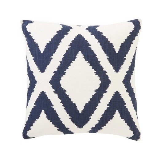 Cushion outdoor Diamond blue off-white