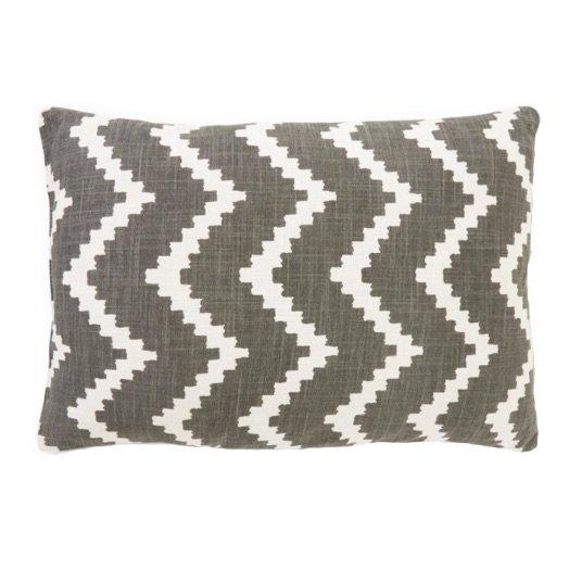 Cushion outdoor Sema ikat grey off-white