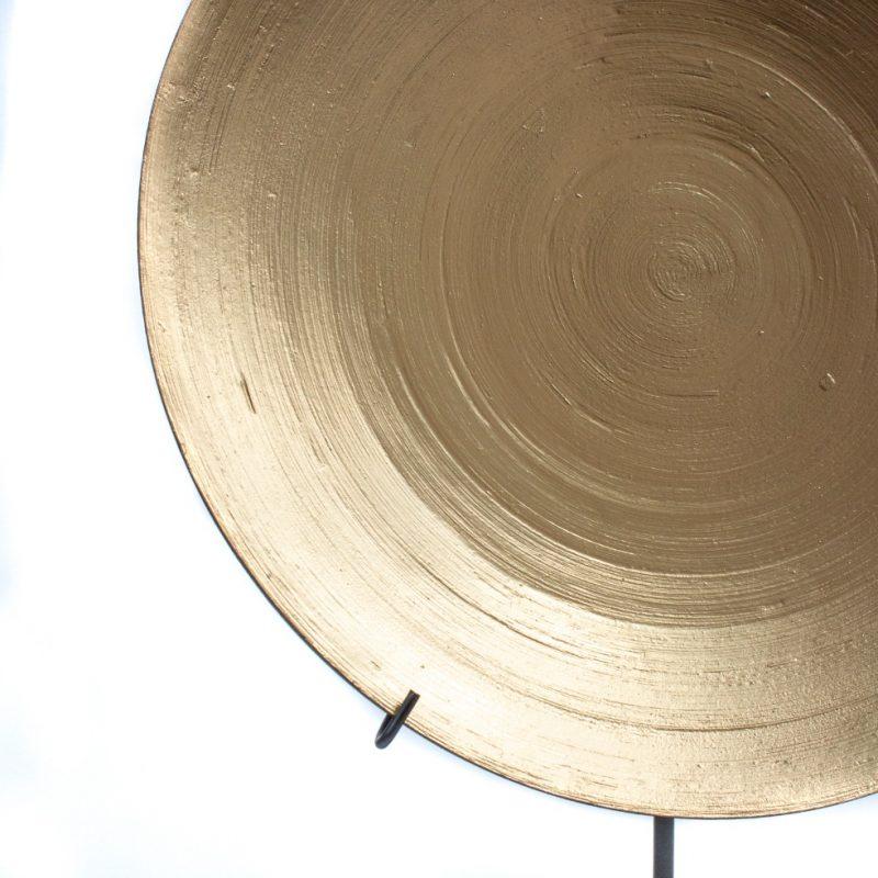Golden ornament bowl