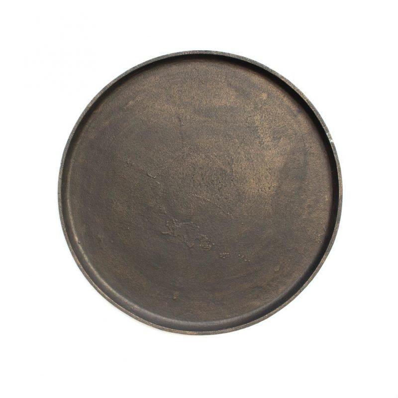 Round tray medium black