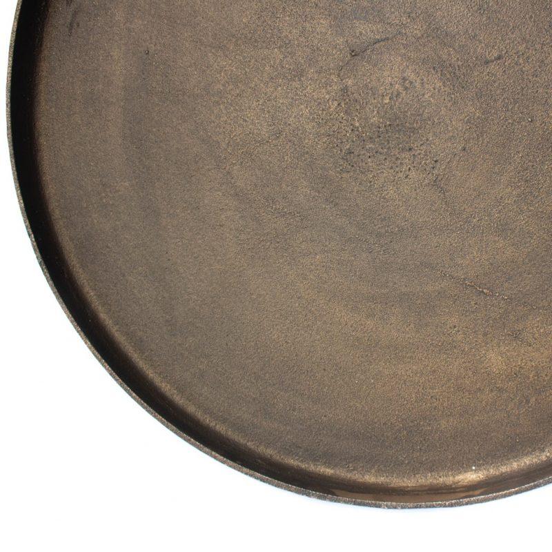 Round tray large black