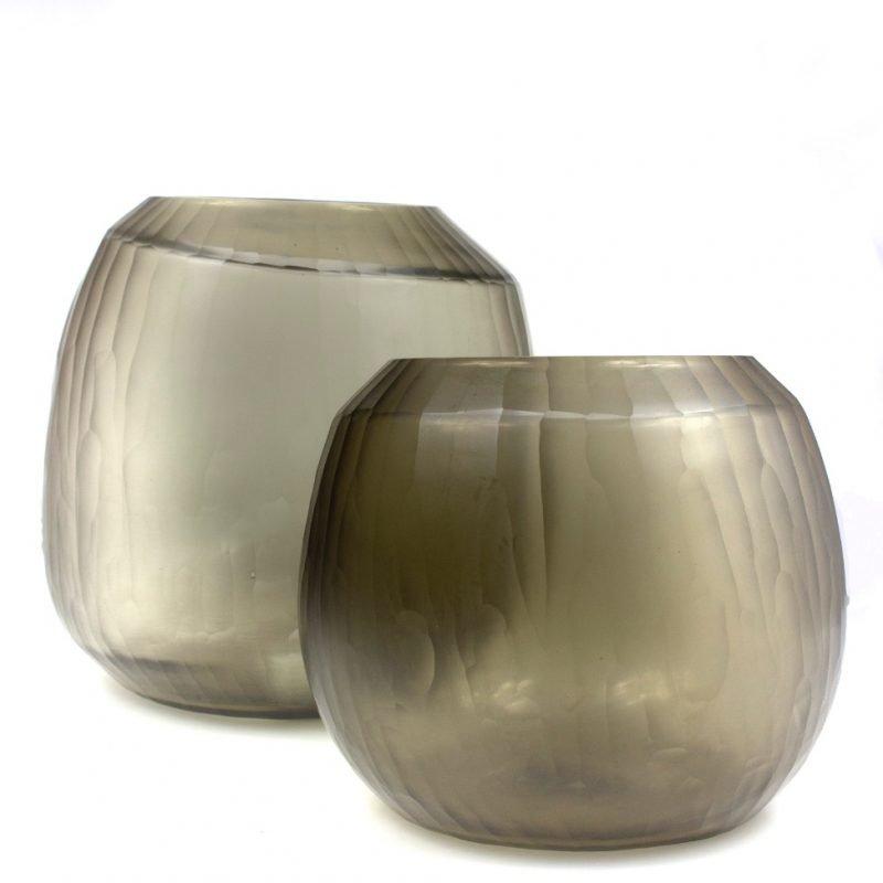 Glass vase Malia beigegrey