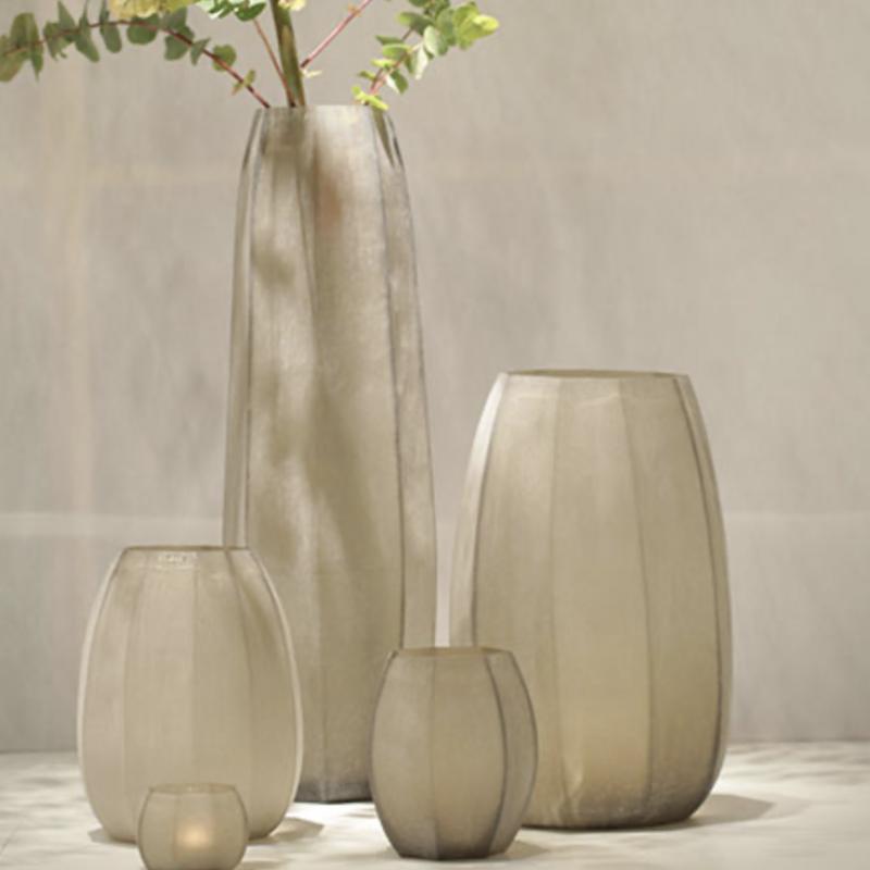 Glass vase Koonam beigegrey